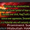 Prominent Sunni Cleric Hizbullah HAKVERDI on Karbala: Victory of Divine Symbol of Faith over blasphemy…