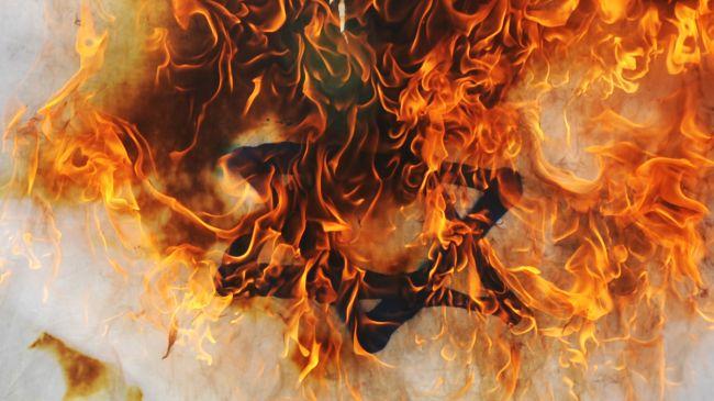 israel flag fire ile ilgili görsel sonucu