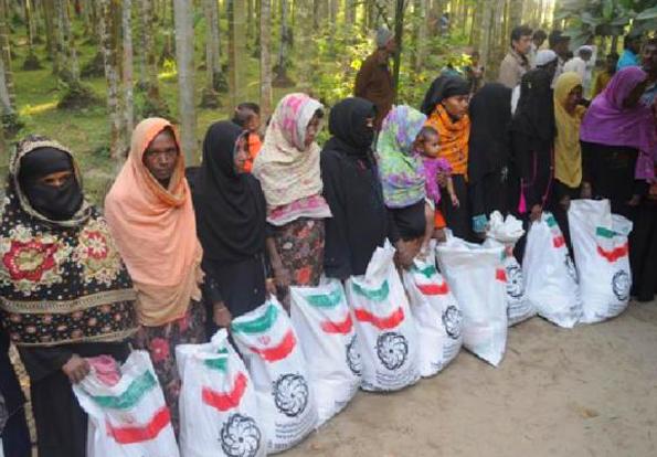 Iran's humanitarian aid reaches Rohingya Muslims