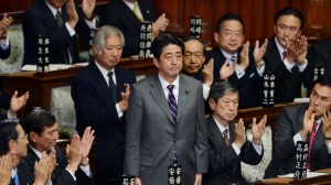 Japan's lower house elects Shinzo Abe