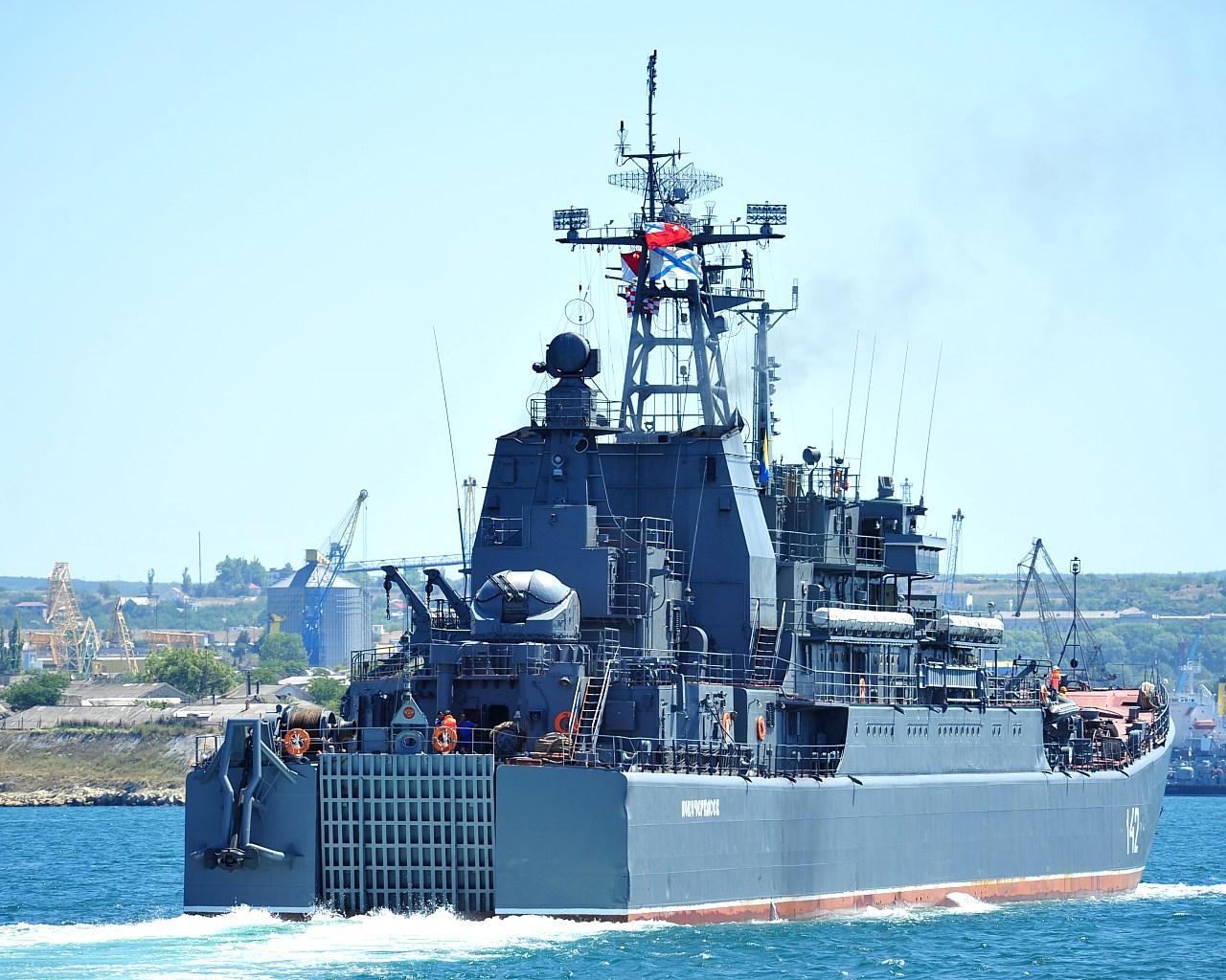 Russian Landing Ship Heads to Tartous Port