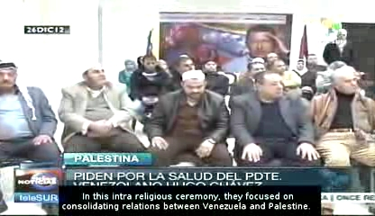 palestinian pray for chavez
