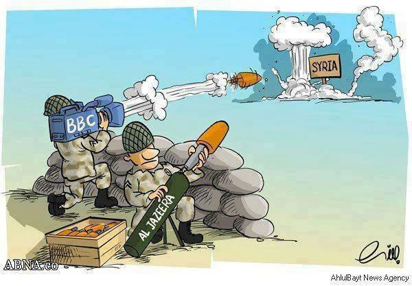Voice of Zionism the BBC and Al- Jazeera bombing Syria