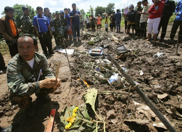 After the disaster in Laos, they found a baby who was among the rubble for over a week