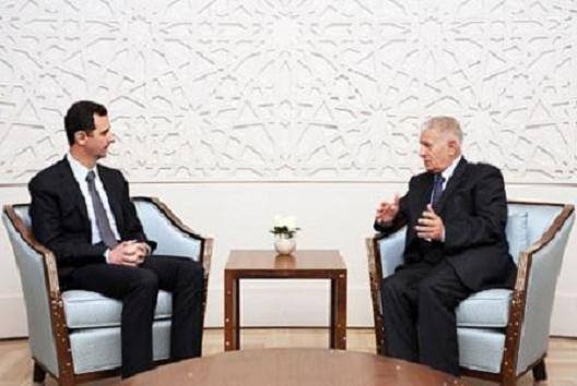President al-Assad to envoy of Palestinian Authority President
