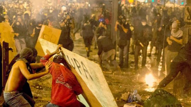Protest rallies turn violent in Brazil