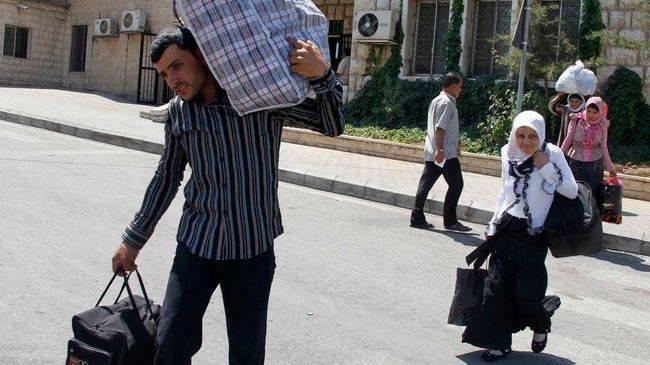 Syrians taking refuge in Lebanon
