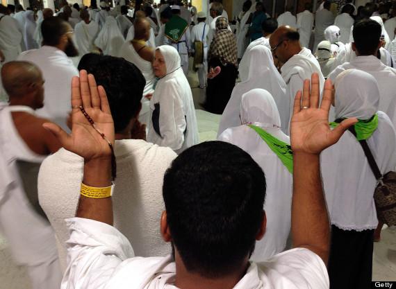 MUSLIM PILGRIMS IN MECCA