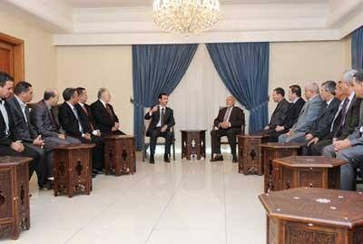 Assad-Algerian Delegation