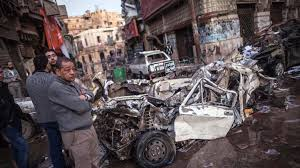 Huge Car Bomb Attack on Egypt Police HQ Kills 13