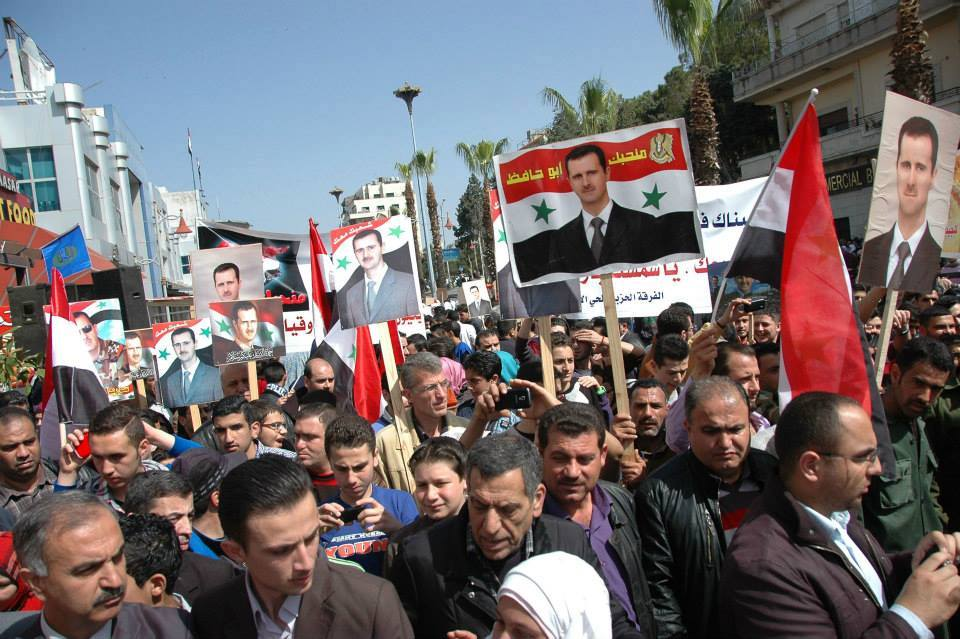 Rally in Homs in support of the Syrian Arab Army