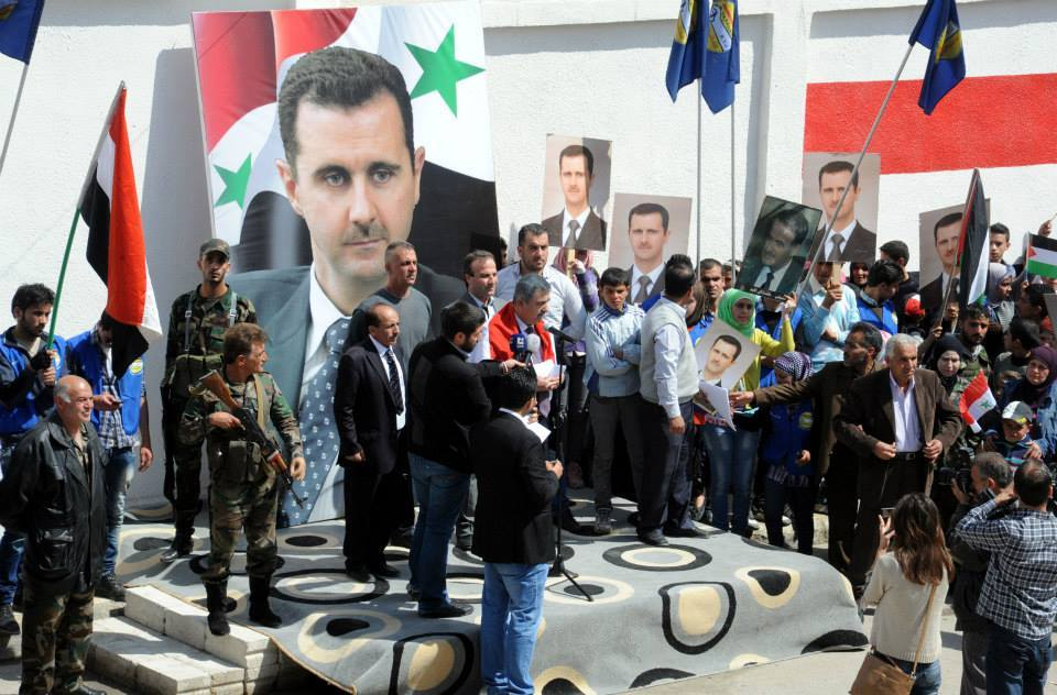 Syrians with Assad3