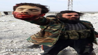 Jabhat al-Nusra executing alongside with the FSA several soldiers and behead two in Daraa