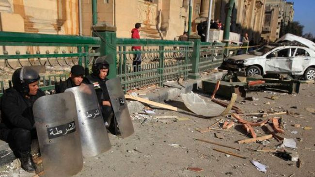 Two blasts hit Egypt's capital, injuring policeman