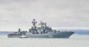 Destroyer Vice Admiral Kulakov joins Russia's Mediterranean task force
