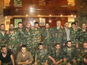 Image of the second group of abducted soldiers who were released in Aleppo