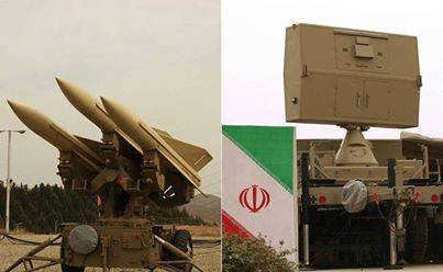 Mersad air defense system with Shahin missile