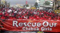Nigerians demand hostage girls' release