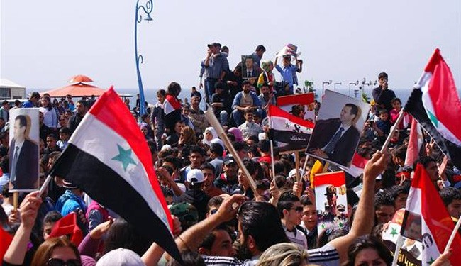 Syrian rally to support government, army against militants