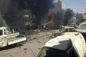 Two Terrorist car bombings have rocked Homs