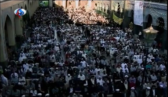 Syrians celebrate Imam Ali birthday at Sayyidah Zaynab shrine: Video