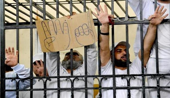 20,000 Egyptian prisoners stage hunger strike