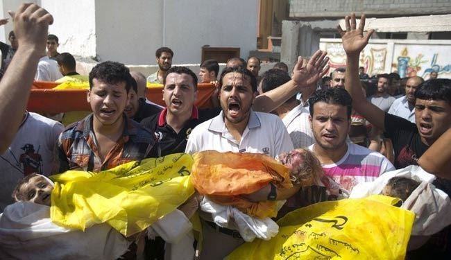 Zionist crimes in Gaza