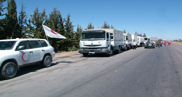 Medical aid delivered to Daraa, aid convoy sent to Aleppo countryside