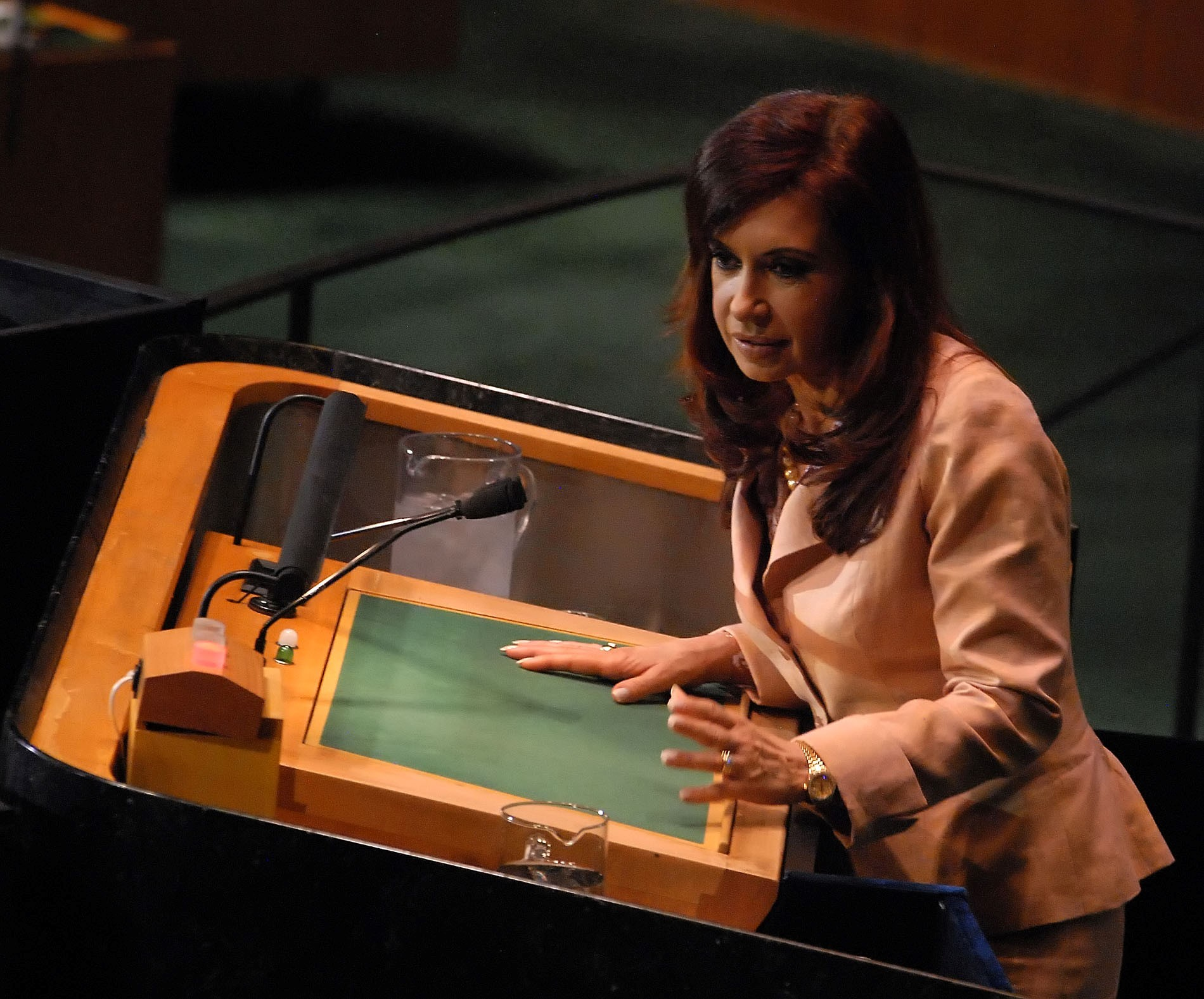 Media censor Argentina president's remarks at UN