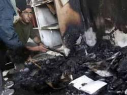 Mosque burnt