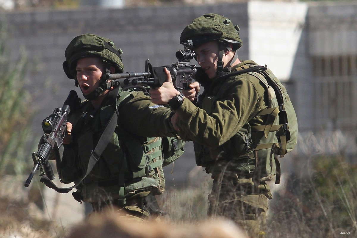israeli-soldiers-shooting-at-palestinian-protestors-against-illegal-settlement-construction-in-al-jalzoo