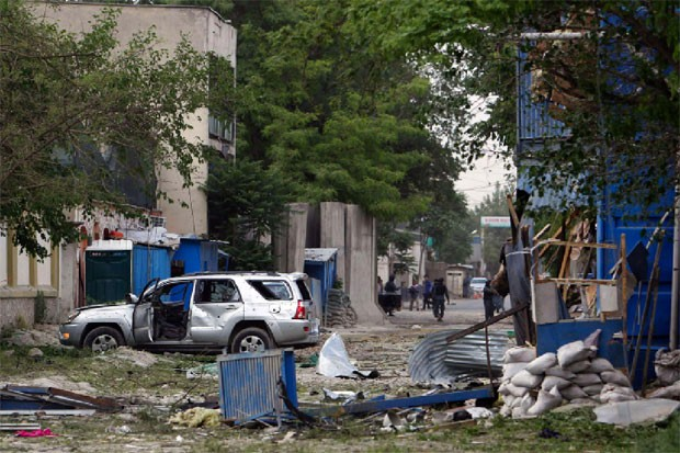 Large explosion, gunfire rock Afghanistan's capital
