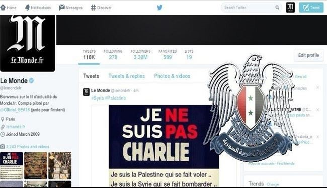 Syrian Cyber Army Take Over Le Monde's Account