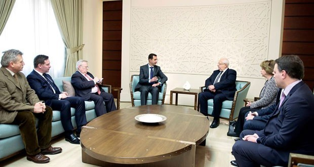 President-al-Assad-French-delegation-620x330