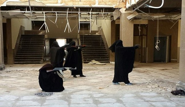Terror Twin Sisters Training with AK-47s  as ISIL Fighters