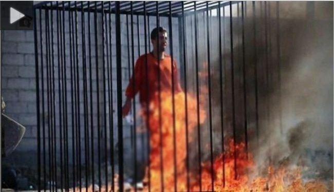 New Video of Burning Jordanian Pilot by Warning King Abdullah II