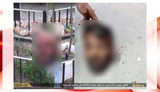ISIS Behead 2 Rivals in Yarmouk Refugee Camp + video