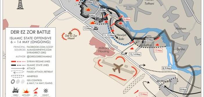Deir Ezzor Battle Map Update Islamic Invitation Turkey