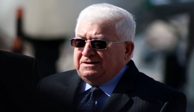 Iraqi President Fuad Masum arrives Iran