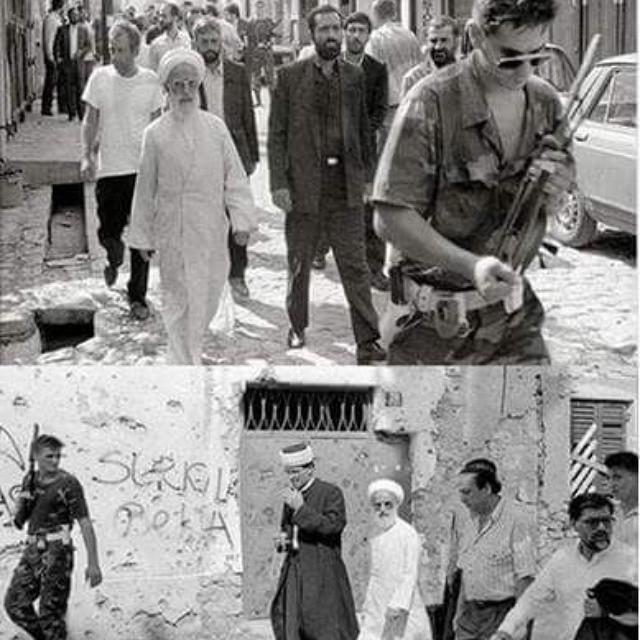 Ayatollah Jannati in Bosnia in 1992 representing Leader Khamenei