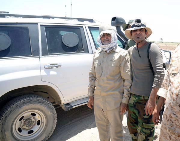 General Qasem Soleimani with Popular mobilization forces around Fallujah