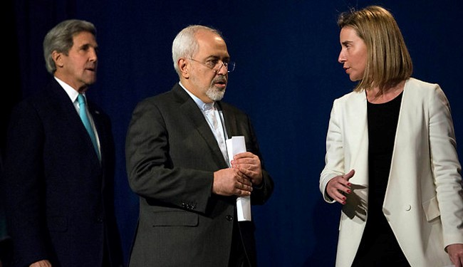 """Never Threaten an Iranian"": Zarif to Mogherini"