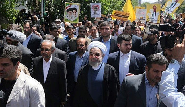 Rouhani: Muslim Unity Will Help Palestinians Reach Goals