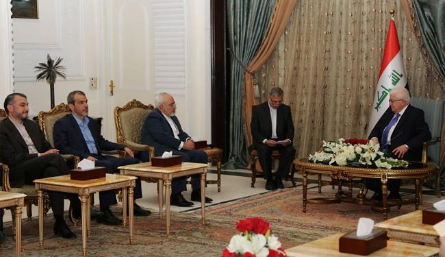 Iran's FM Zarif Meets Iraqi President Fuad Massoum