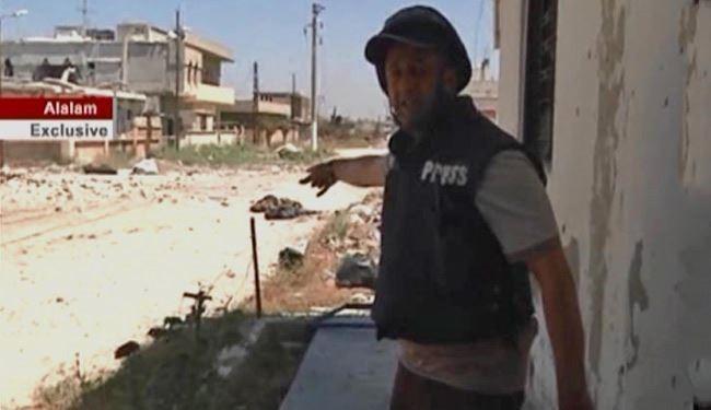Al-Alam reporter Hossein Morteza