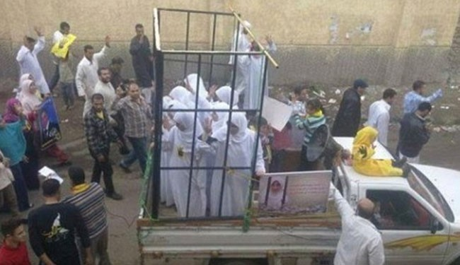 (file photo showing captured girls in ISIS territory)
