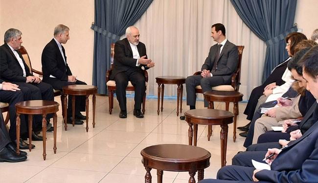 Zarif Met President Bashar al-Assad