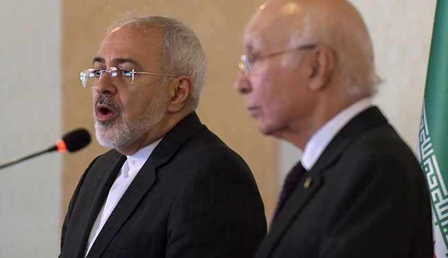 Zarif, Sartaj Aziz Stress Need to Further Bilateral Ties