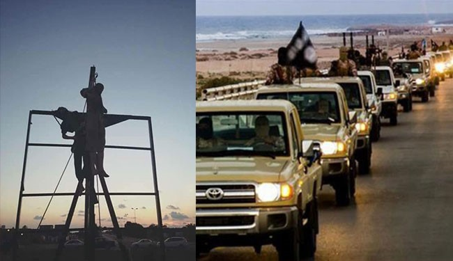 ISIS crucifies residents in Sirte after an uprising in the city against the terror organization
