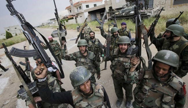Syrian army troops (file photo)